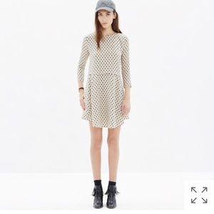 Madewell Dress Silk Tee In Dot Pockets Non-waisted